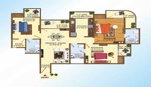 Uninav Heights - Floor Plan